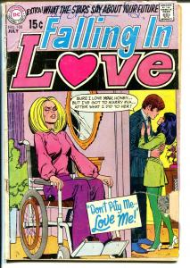 Falling In Love #108 1968-DC-handicapped girl-wheel chair-rare-G