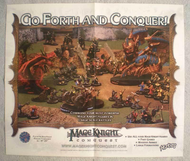 MAGE KNIGHT CONQUEST Promo poster, 20x17, 2002, Unused, more Promos in store