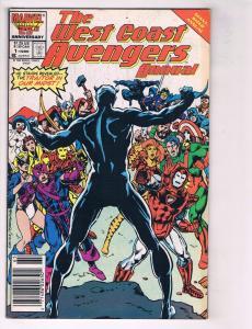 Lot Of 5 Marvel Comics West Coast Avengers # 1 2 4 5 6 Iron Man Hawkeye MM3