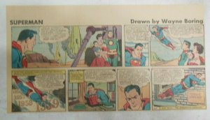 Superman Sunday Page #1163 by Wayne Boring from 1/28/1962 Size ~7.5 x 15 inches