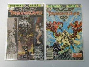 Dragonslayer set #1+2 Newsstand editions 6.0 FN (1981)