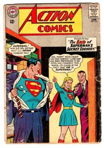 ACTION COMICS #313 comic book 1964-SUPERMAN-SUPERGIRL-PERRY WHITE G