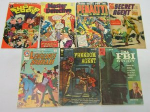 Crime comic lot 7 different books various conditions (mostly Silver years)