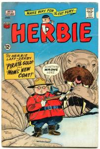HERBIE COMICS #13 1965-RCMP-WALRUS COVER-FAT FURY-ACG VG