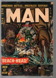 Man #13 1952-Atlas-WWII-Korean War-Russ Heath-Davy Berg-violence-VG-