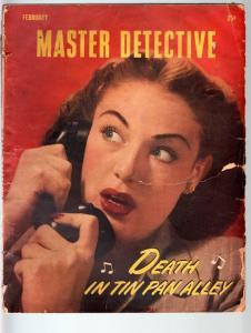 MASTER DETECTIVE FEB 1947-FR-INSURANCE RACKET-PULP-TRUE CRIME FR