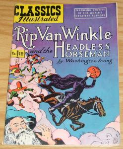 Classics Illustrated #12 VG- (6th) rip van winkle and headless horseman HRN 60