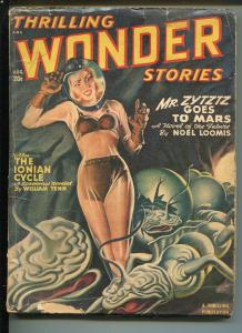 THRILLING WONDER STORIES 8/1948-EARLE BERGEY-RAY BRADBURY-PULP-fr/good