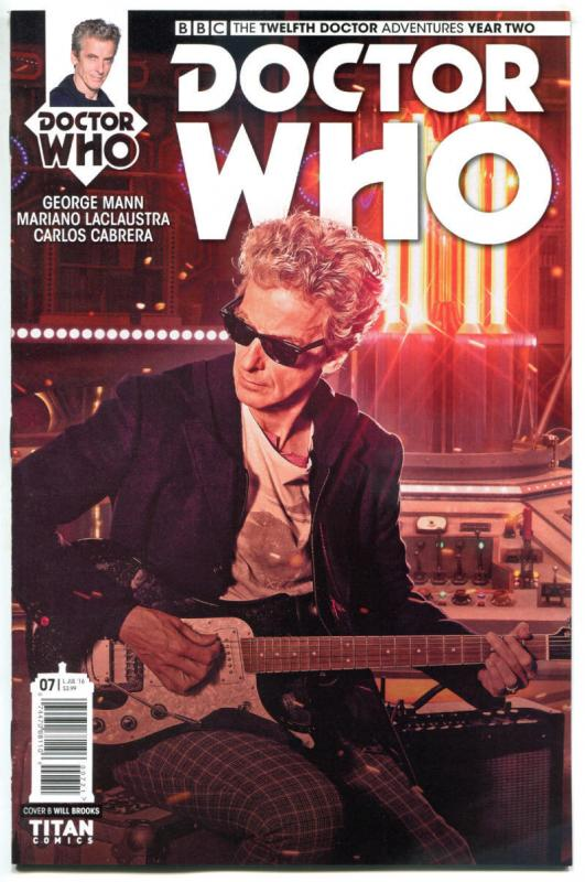 DOCTOR WHO #7 B, NM, 12th, Tardis, 2016, Titan, 1st, more DW in store, Sci-fi