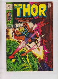 Thor #161 FN+ stan lee - jack kirby - ego the living planet vs galactus 1969
