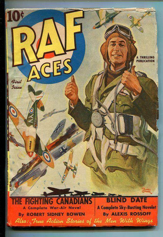 R A F ACES-#1-AUG 1941-PULP-AVIATION-SOUTHERN STATES PEDIGREE-vf