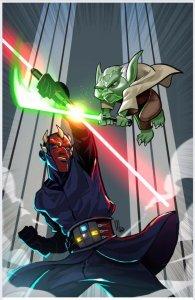 Star War Ad: Clone Wars Battle Tales 4! Yoda Vs Darth Maul By Milton Pre-Sale!
