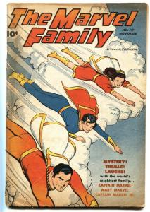 MARVEL FAMILY #17 1947-CAPTAIN MARVEL-FAWCETT-MARY MARVEL-G