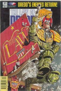 Law of Dredd, The #31 VF; Fleetway Quality | save on shipping - details inside