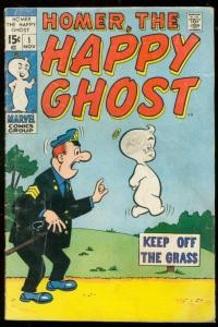 HOMER THE HAPPY GHOST #1 1969-KEY ISSUE-MARVEL DECARLO G/VG