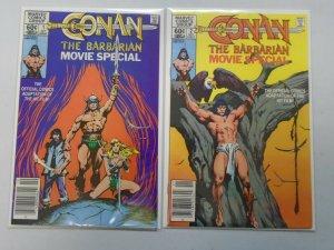 Conan the Barbarian Movie Special set #1-2 ft. Arnold Schwarzenegger 8.0 VF 1982