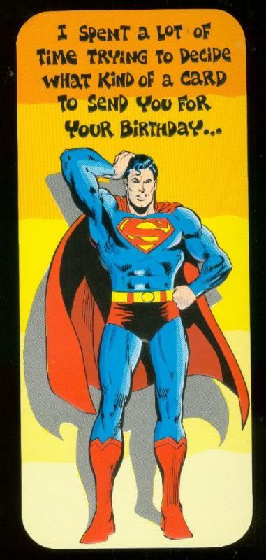 NEAL ADAMS SUPERMAN BIRTHDAY CARD #21 1978 NM