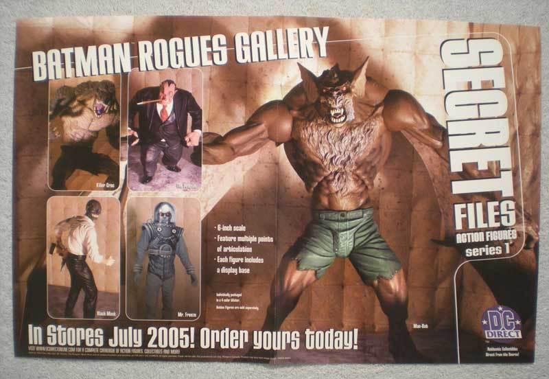 SECRET FILES ACTION FIGURES Promo Poster, 2005, Unused, more in our store