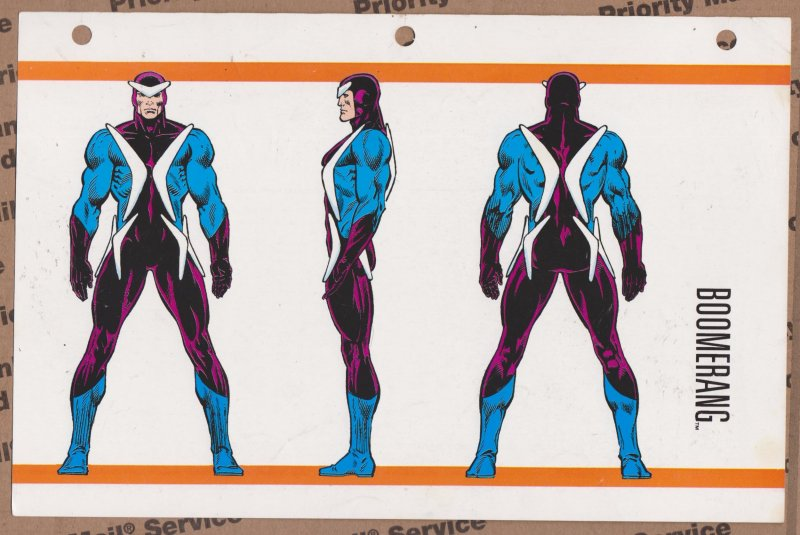 Official Handbook of the Marvel Universe Sheet- Boomerang