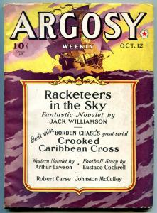 Argosy Pulp October 12 1940- Johnston McCulley- Crooked Caribbean Cross FN