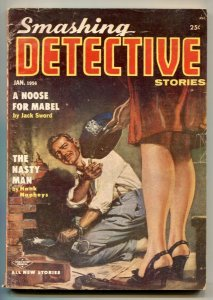 Smashing Detective Stories Pulp January 1956- Noose for Mabel