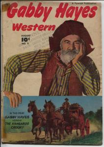 Gabby Hayes Western #9 1949-Fawcett-1st Young Falcon-G/VG