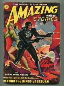 AMAZING STORIES PULP MARCH 1951-ROBERT GIBSON JONES COVER-VG