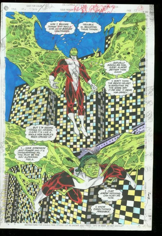 NEW TITANS #102 PRODUCTION ART DC COLOR GUIDE