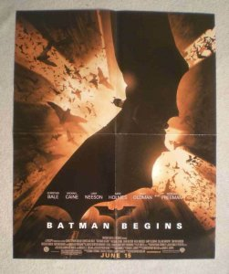 BATMAN BEGINS Promo Poster, 17x22, 2005, Unused, more Promos in store