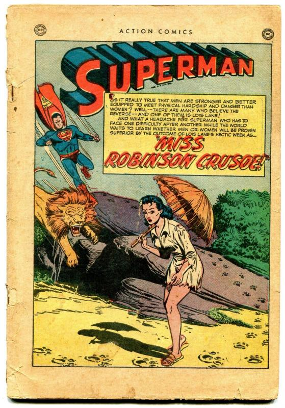 Action Comics #154 1951- Superman- Congo Bill coverless reading copy