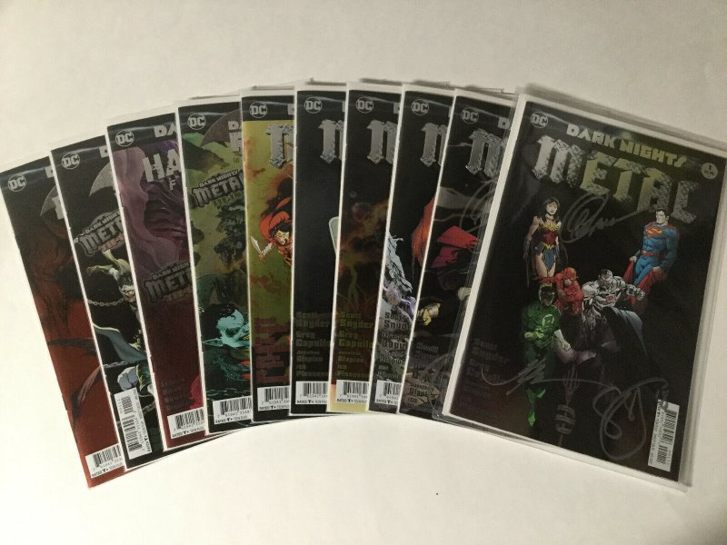 Dark Knights Metal 1-6 Tie-ins One-shots 27 Issue Lot Near Mint #1-2 Signed DC