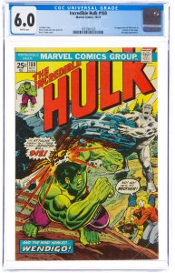 The Incredible Hulk #180 (Marvel, 1974) CGC FN 6.0 White pages. Cameo first a...