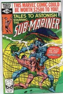 TALES TO ASTONISH #10, VF+, Sub-Mariner, Colon, Marvel 1979 1980
