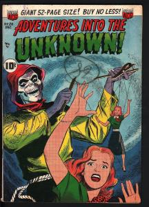 ADVENTURES INTO THE UNKNOWN #26-WEREWOLF STORY-PRE-CODE HORROR-1951