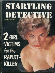 Startling Detective January 1953-Spring of Doom for Kate- True Crime Magazine