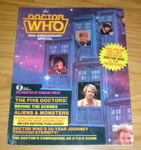 Doctor Who 20th Anniversary Special #1 FN starlog magazine complete with poster