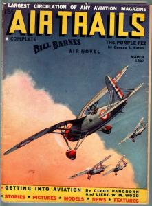AIR TRAILS PULP 3/1937-AVIATION ART FRANK TINSEY-STREET AND SMITH VG