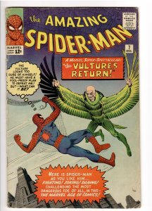 AMAZING SPIDERMAN 7 VG- 3.5 2nd APPEARANCE VULTURE.