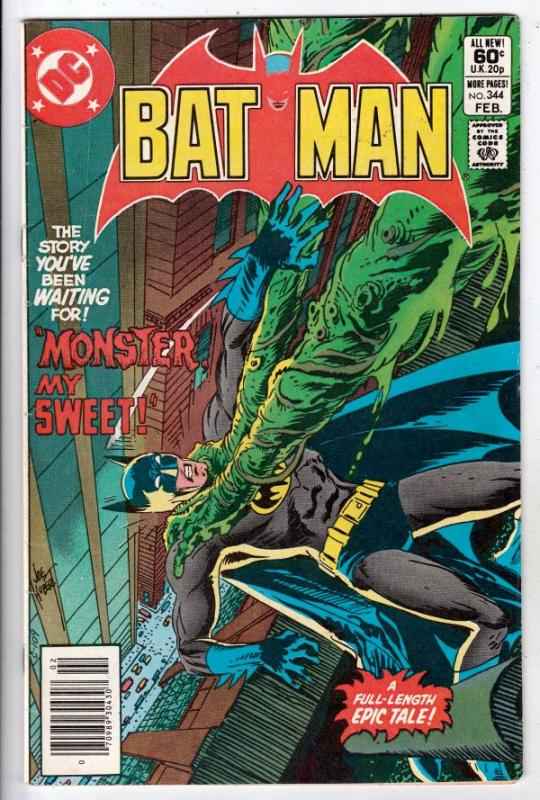 Batman #344 (Feb-82) VF/NM High-Grade Batman, Robin the Boy Wonder