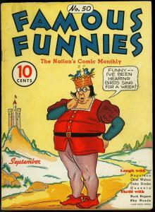 FAMOUS FUNNIES #50 - KEY SUPERHERO .1938. BUCK ROGERS VG