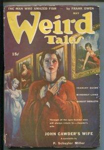 WEIRD TALES 05/1943-PULP-MYSTERY COVER-MARGARET BRUNDAGE-MATT FOX-QUINN-vg+
