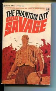DOC SAVAGE-THE PHANTOM CITY-#10-ROBESON-VG/FN- JAMES BAMA COVER-1ST ED VG/FN