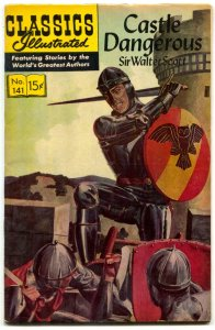 Classics Illustrated #141 HRN 167-Castle Dangerous by Sir Walter Scott FN/VF