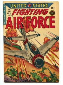 United States Fighting Air Force #23 1956- air combat cover FN