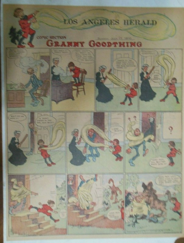 Granny Goodthing Sunday Page by Follett  from 7/17/1910 Full Page Size!