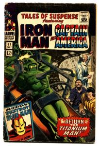 TALES OF SUSPENSE #81 comic book-CAPTAIN AMERICA/IRON MAN