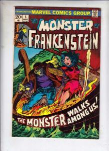 Frankenstein, the Monster of #5 (Sep-73) FN/VF Mid-High-Grade Frankenstein