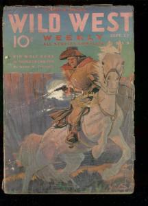 WILD WEST WEEKLY PULP-SEPT 17 1938-KID WOLF-T ROCKFORD  G