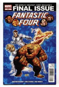 FANTASTIC FOUR #611- Last Issue comic book-Marvel 2012-NM-
