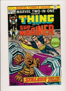 Marvel THE THING & SUB-MARINER  Vol 1. #2 March 1974 VERY FINE (PF431)